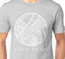Minimal Maps (Grey) - Cape Town S.A. Unisex T-Shirt