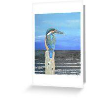 Fishing post, Kingfisher of Eftalou. Greeting Card