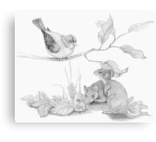 Mice and Friends Canvas Print