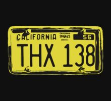 THX 138 Licence Plate Original by picto