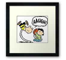 Charlie Brown and Lucy Framed Print