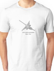 Nazca Lines Hummingbird With Coordinates Unisex T-Shirt
