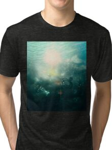 Abstract Underwater 4 Tri-blend T-Shirt