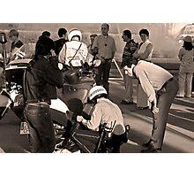 police raid Photographic Print