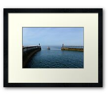 Whitby Piers Framed Print