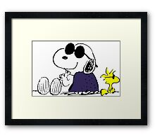 Snoopy and Woodstock in Relax Framed Print