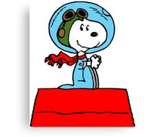 Snoopy in the Space Canvas Print