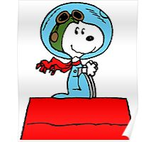 Snoopy in the Space Poster