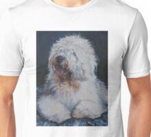 Old English Sheepdog Fine Art Painting Unisex T-Shirt