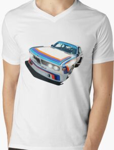 BMW E9 CSL Batmobile - Works Livery Mens V-Neck T-Shirt