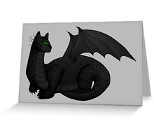 Cat Dragon Greeting Card