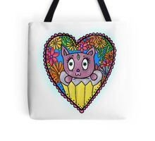Cat living in an Exotic Cupcake/Heart Tote Bag