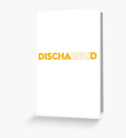 RG3 Discharged Greeting Card