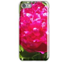 Deep Pink Peony Flower iPhone Case/Skin