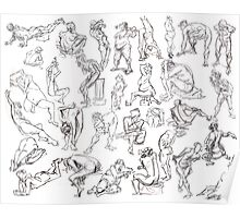 Life Drawing Compilation Poster