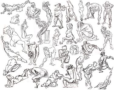 Life Drawing Compilation by jesseaclin