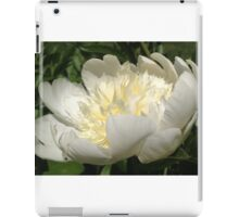 White Peony Flower iPad Case/Skin