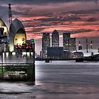 Thames Barrier Sunset by Robert Radford