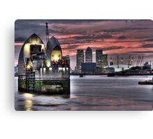 Thames Barrier Sunset Canvas Print