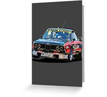 BMW E9 CSL Batmobile - Luigi Castrol Livery Greeting Card