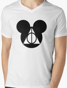 Deathly Mickey Mens V-Neck T-Shirt