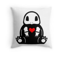 Skelsquirtle Throw Pillow