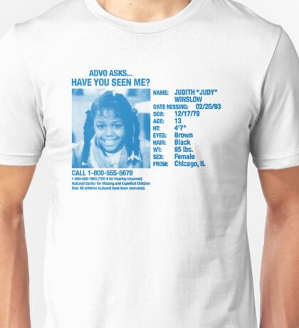 Advo Asks... Have You Seen Me? Unisex T-Shirt