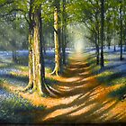 `Bluebell Light` Acrylics on Canvas  by Stephen Lewis Gilmore