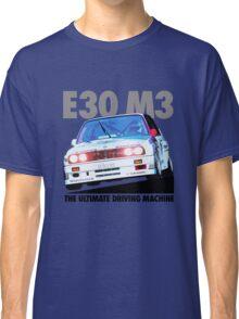 BMW E30 M3 Touring Car Racer - Black Text Classic T-Shirt
