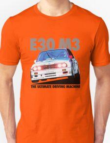 BMW E30 M3 Touring Car Racer - Black Text Unisex T-Shirt