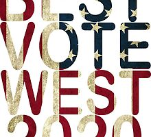 Best Vote West 2020 T Shirt by zandosfactry