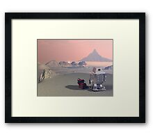 A Robot and His Dog 2 Framed Print