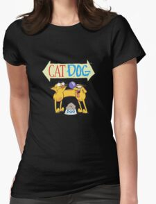 CatDog Womens Fitted T-Shirt