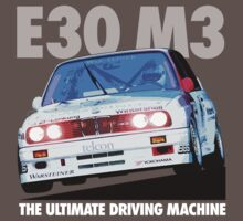 BMW E30 M3 Touring Car Racer - White Text by fozzilized
