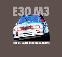 BMW E30 M3 Touring Car Racer - White Text Unisex T-Shirt
