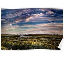 Glorious New Jersey Salt Marsh Poster