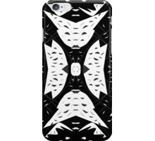 Cutouts Black and White Abstract iPhone Case/Skin