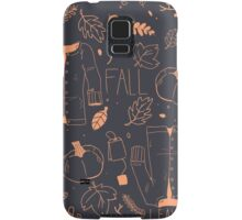 Sweater Weather in Navy and Coral Samsung Galaxy Case/Skin