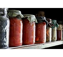 Ball Jars in a Row Photographic Print