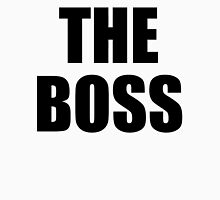 THE BOSS, Gaffer, Boss, The Govenor, CEO, In charge, The Chief, Obey! Womens Fitted T-Shirt