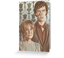 Sherlock & Mrs. Hudson Greeting Card