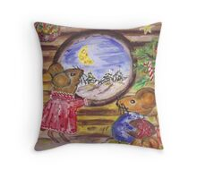 Christmastime in Miceland  Throw Pillow