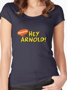 Hey Arnold! Women's Fitted Scoop T-Shirt
