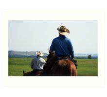 Cowboy Trail Art Print