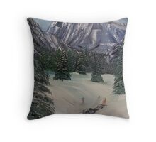 What a Great day to Ski Throw Pillow