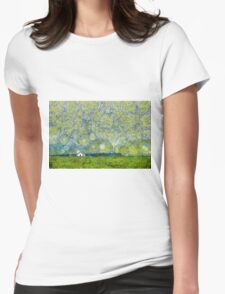 Starry Ballintoy Church Womens Fitted T-Shirt