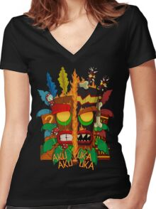 Tiki Women's Fitted V-Neck T-Shirt