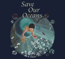 Keepsakes of the Ocean - Save Our Oceans - Bubble cut out by Audra Lemke