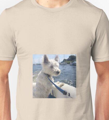 Westie sailing Unisex T-Shirt