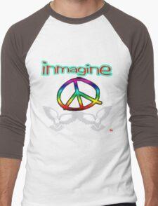 PEACE / IMAGINE Men's Baseball ¾ T-Shirt